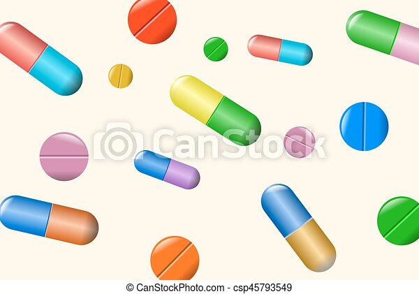 tablets and pills vector set isolated on beige background eps rh canstockphoto com vector pillows vector pills review