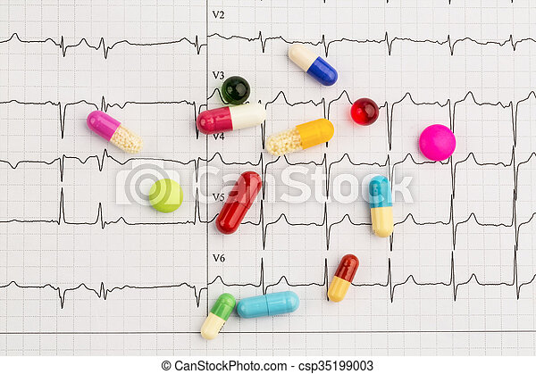 tablets on an ecg - csp35199003