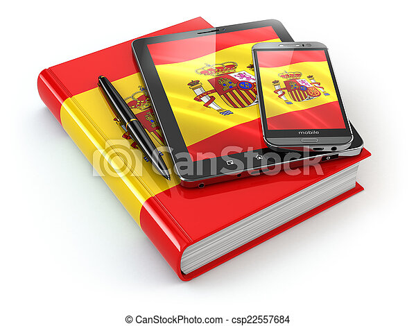 Tablette Mobile Pc Livre Espagnol Smartphone Learning Appareils