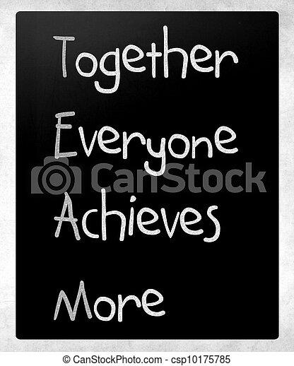 tablica, pojęcie, teamwork - csp10175785