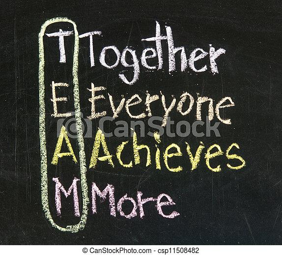 tablica, pojęcie, teamwork - csp11508482