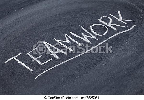 tablica, słowo, teamwork - csp7525061