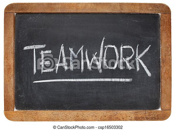 tablica, słowo, teamwork - csp16503302