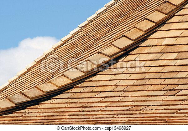 Tejas de cedro - csp13498927