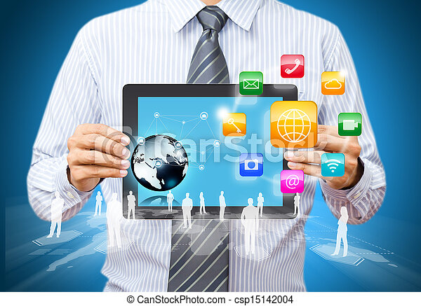 tabtablet with application icons - csp15142004
