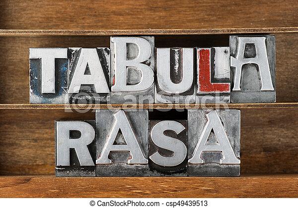 tabula rasa-blank state - csp49439513