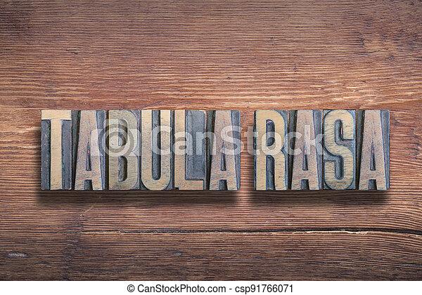 tabula rasa wood - csp91766071