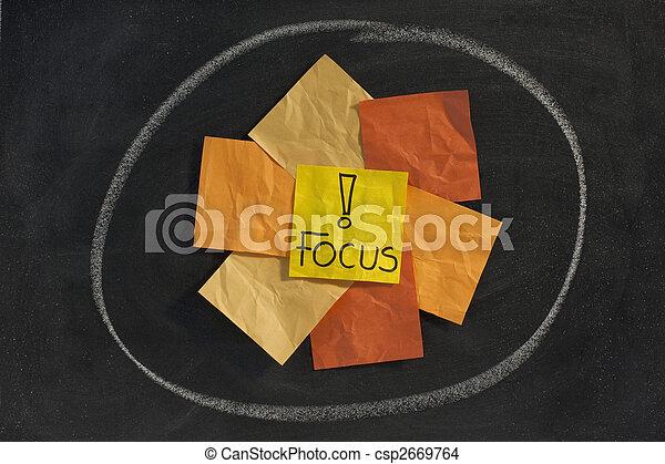 tabule, pojem, ohnisko - csp2669764