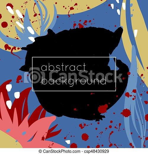 taches, clair, fait, fond, coloré - csp48430929