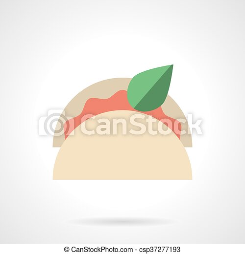 Taco menu flat color design vector icon - csp37277193