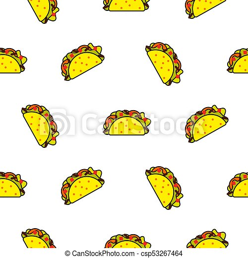 taco mexican food seamless vector pattern bright yellow clip art rh canstockphoto com mexican food png clipart mexican food clip art borders
