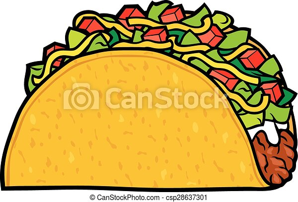 taco - mexican food - csp28637301