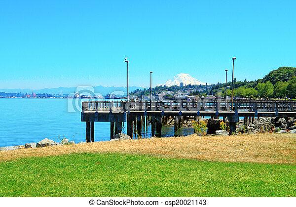 Tacoma. Pier view. WA - csp20021143