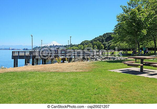Tacoma. Pier view. WA - csp20021207
