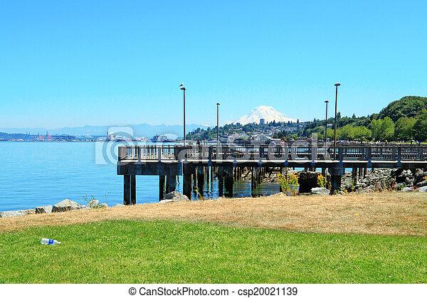 Tacoma. Pier view. WA - csp20021139