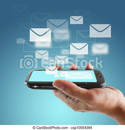 Toque el teléfono móvil - csp10554394