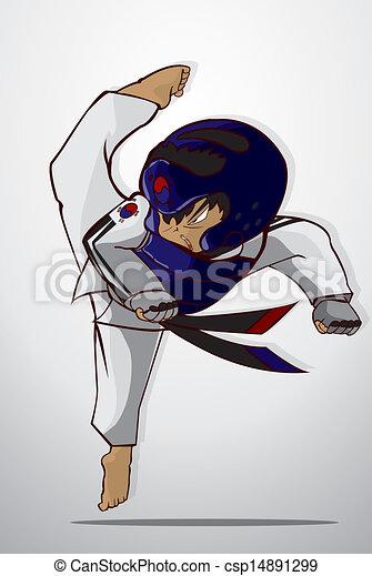 Arte marcial Taekwondo - csp14891299