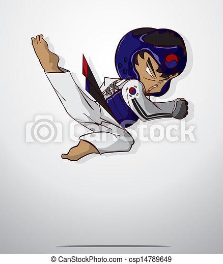 taekwondo, arte, marcial - csp14789649