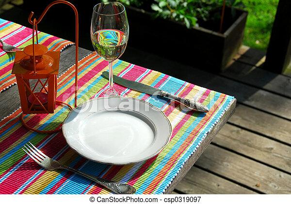 tafel, buiten, vatting - csp0319097