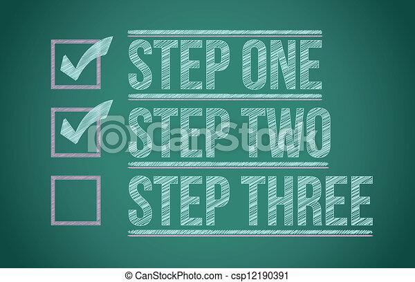 Steps Checkmark-Blackboard - csp12190391