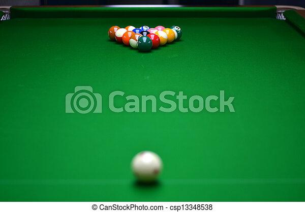 tafel, pool - csp13348538