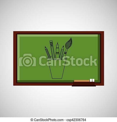 tafel, schule, begriff, werkzeuge, bildung - csp42306764