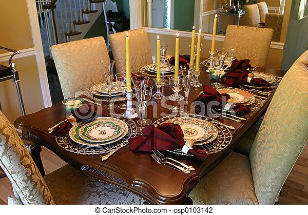 tafel, vakantie - csp0103142