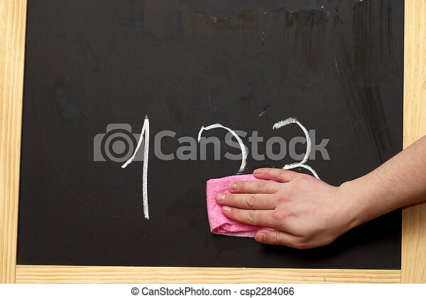 Tafel wischen clipart  Tafel, wischen. Ziffern, rosa, wischen, wischen, tafel Stockbild ...