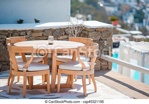 Luxe Witte Stoelen.Tafels Zomer Stoelen Hotel Lucht Luxe Witte Koffiehuis Open Lege