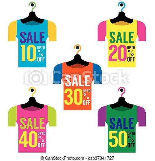 7b964a2d7e1a7 Tag., cintres, vente, vêtements. Illustration., vente étiquette ...