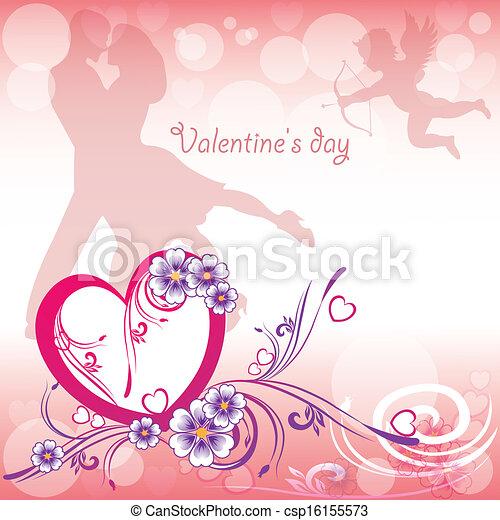tag, hintergrund, valentines - csp16155573
