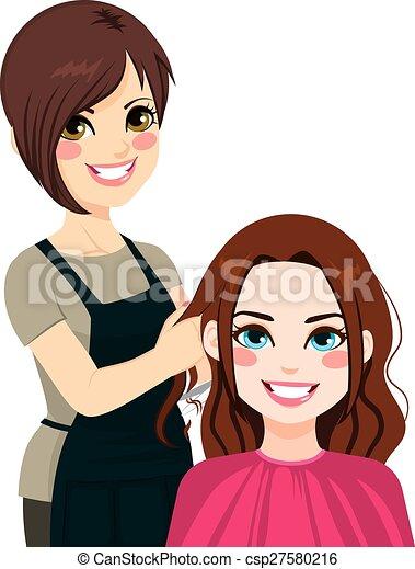 taglio capelli, parrucchiere - csp27580216