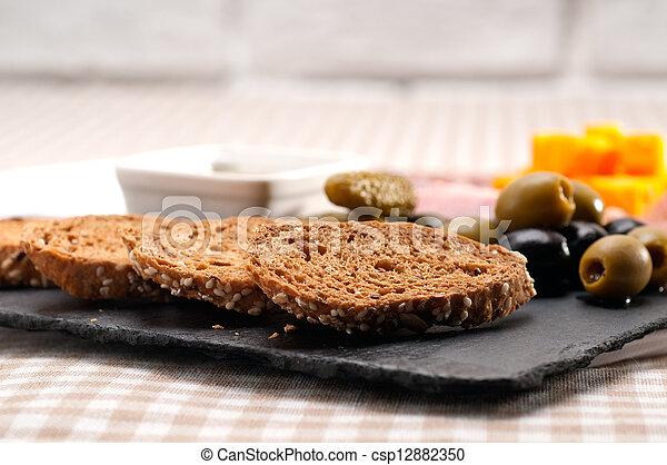 taglio, freddo, piatto da portata, assortito - csp12882350