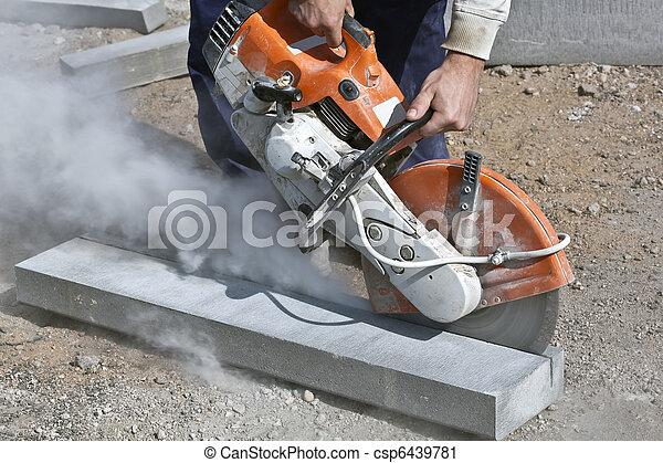 taglio, lavori in corso - csp6439781