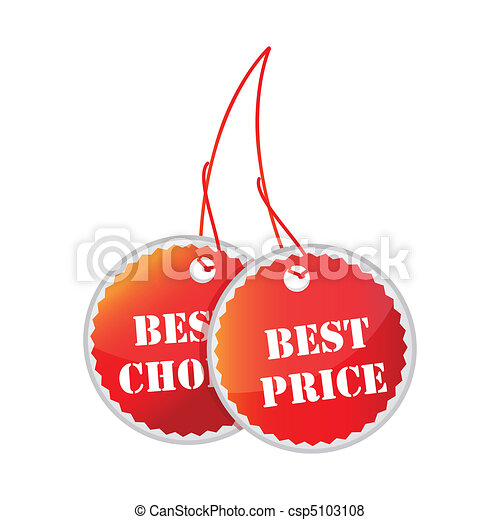 tags for best price and best choice - csp5103108