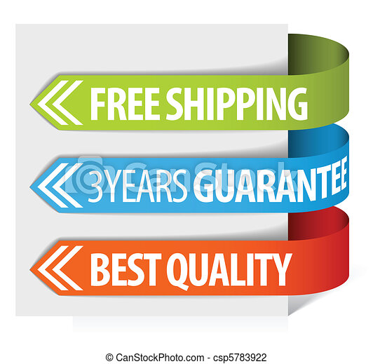 tags for free shipping, guarantee and quality - csp5783922