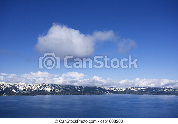 tahoe, 湖, nevada. - csp1603200