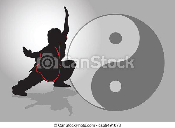 tai-chi., κινέζα  - csp9491073