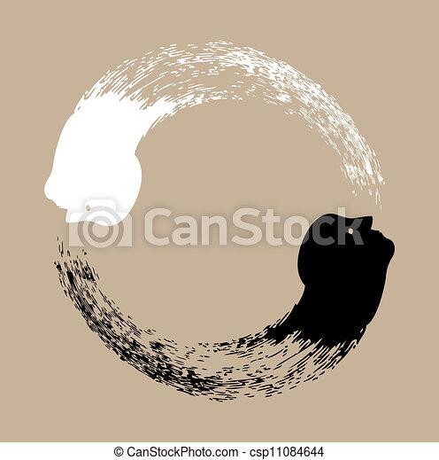 Taichi yin and yang - csp11084644