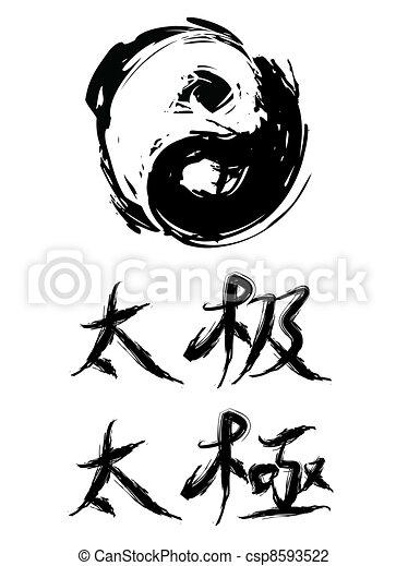 Characters tai chinese chi in Tai chi