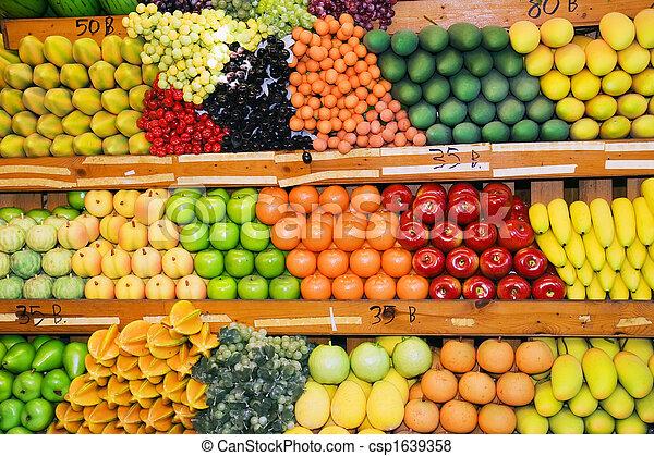 tailandês, banco testemunhas fruta - csp1639358