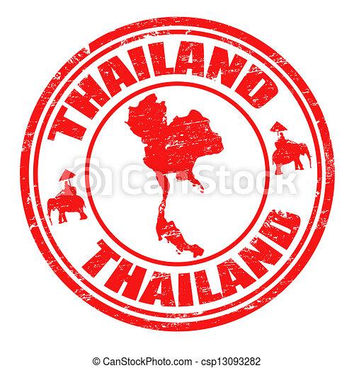 tailandia, francobollo - csp13093282