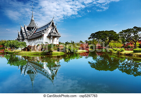 tailandia, prasat, palacio, sanphet - csp5297763