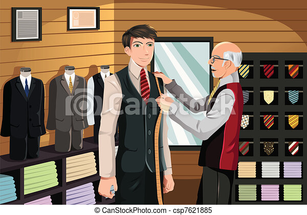 Tailor fitting for suit - csp7621885
