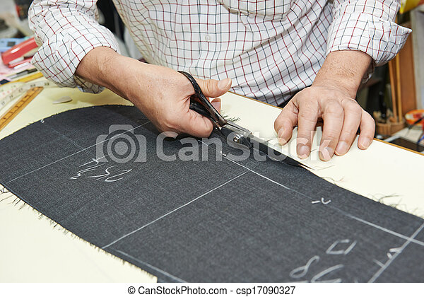 Tailor hands at works - csp17090327