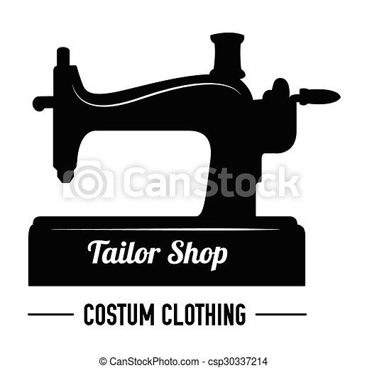 tailor shop sewing label badge vector clip art search