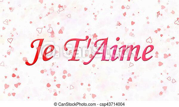 "t'aime"", ""je, liefde, tekst, ""i, franse , you"", achtergrond, witte"