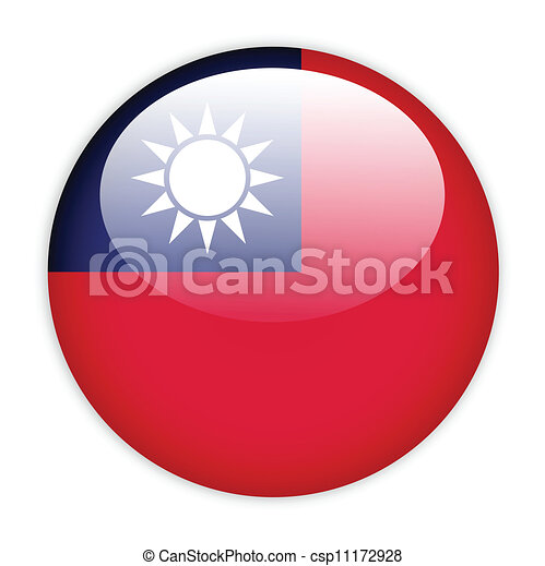 Taiwan flag button - csp11172928