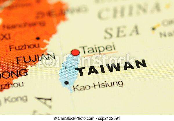 Taiwan on map - csp2122591