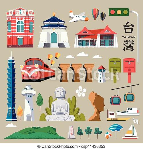 Taiwan tourist promotion - csp41436353